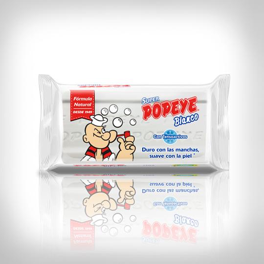 Jabon Popeye Super Blanco